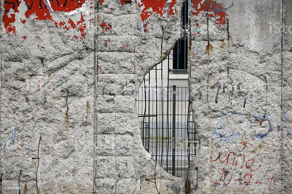 Fragment of the Berlin wall (Series) stock photo