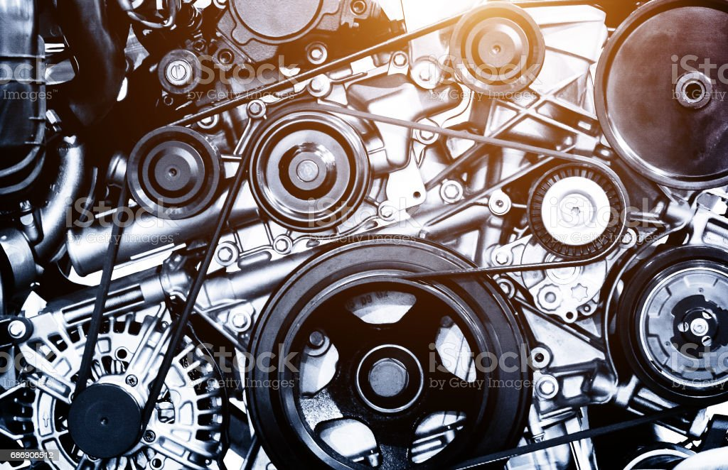 A fragment of the engine stock photo