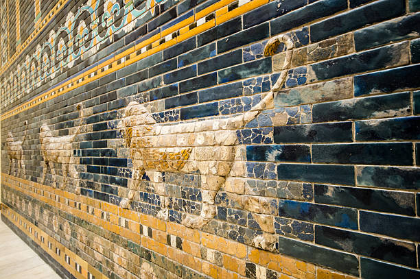 fragment of the Ishtar Gate stock photo