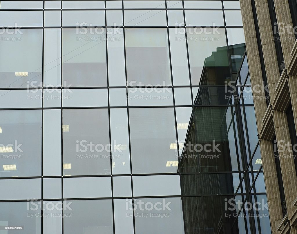 Fragment of the new building royalty-free stock photo