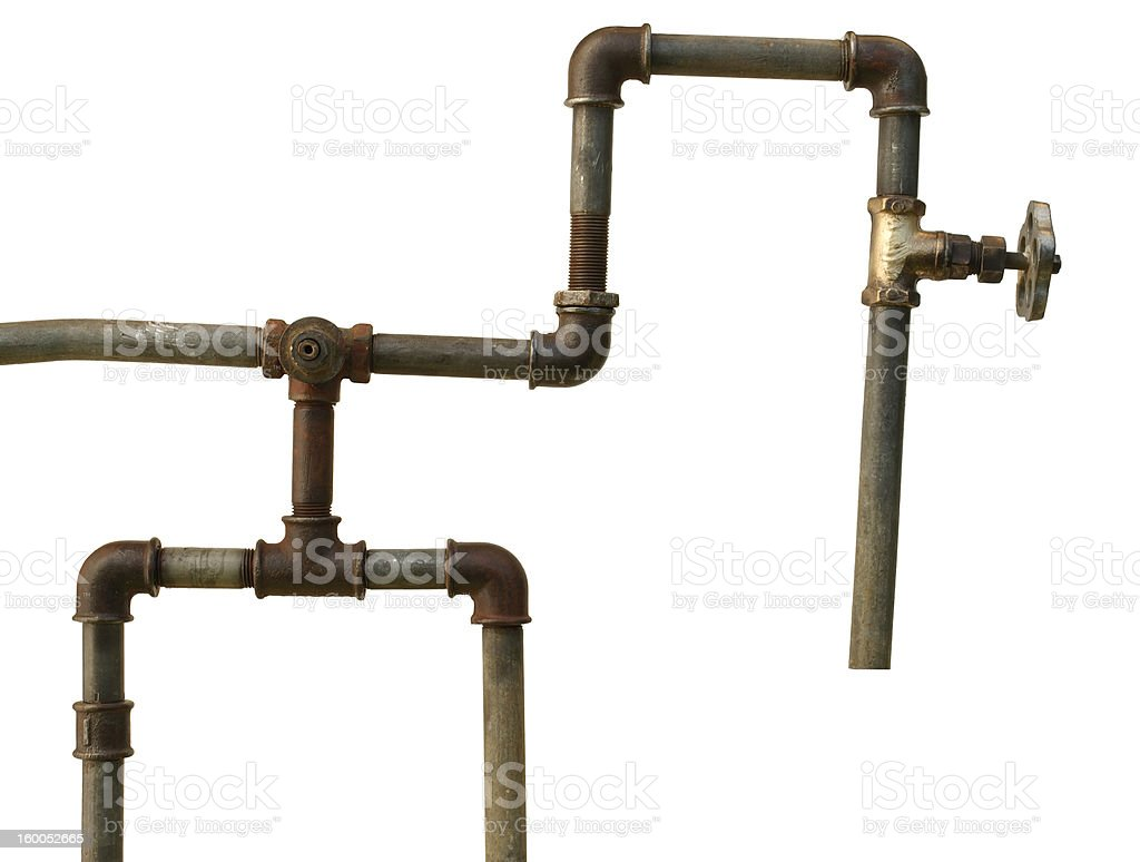 fragment of the old water conduit. royalty-free stock photo