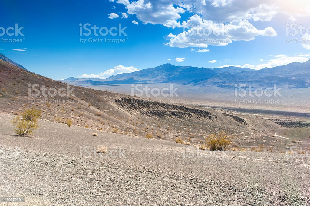 Fragment of Ubehebe Crater in Death Valley National Park stock photo