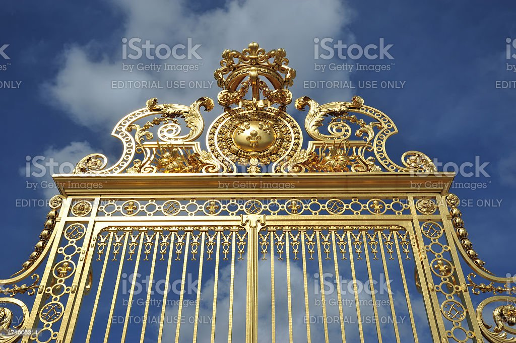 Fragment of Versailles Palace, France stock photo