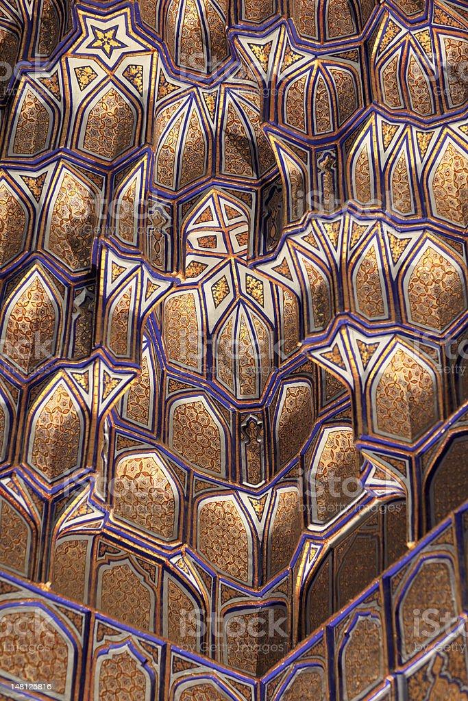 Fragment of wall Guri Amir royalty-free stock photo