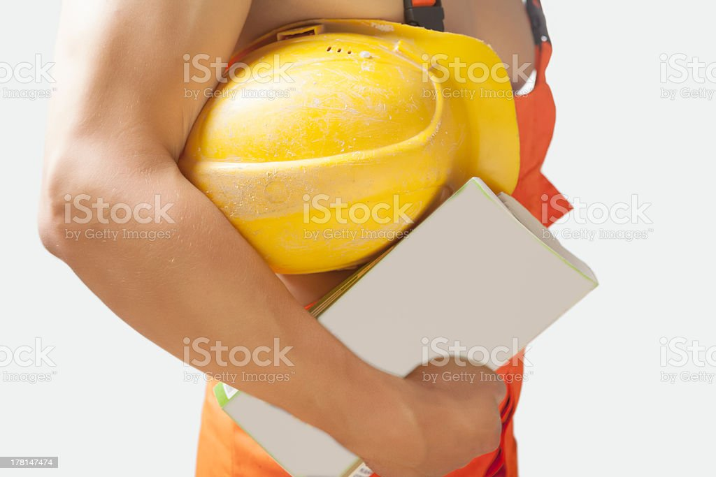 fragment shot of a strong builder man royalty-free stock photo