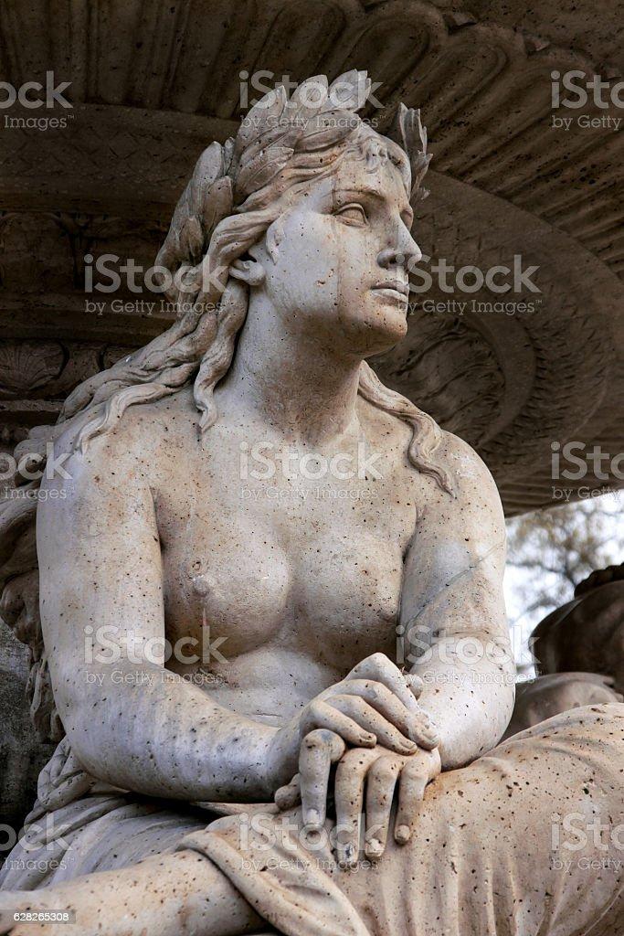 Fragment statue Danubius Water Fountain - foto de acervo