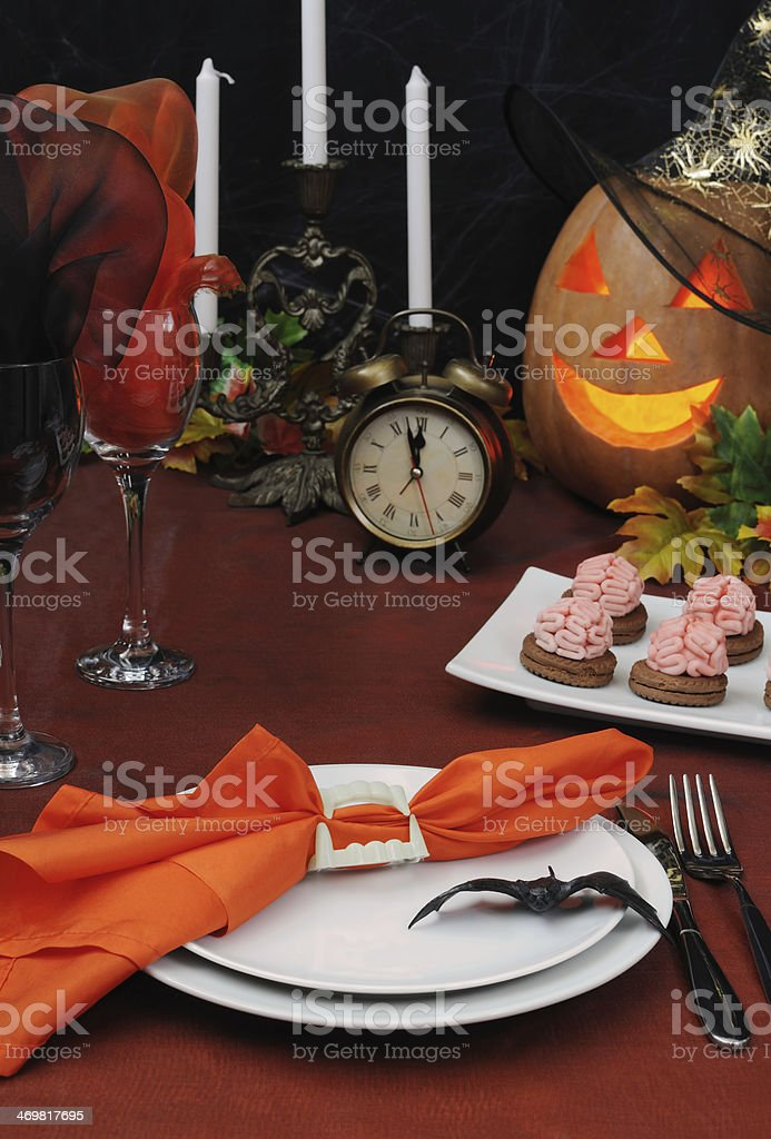 Fragment Table Setting For Halloween Stock Photo Download Image Now Istock