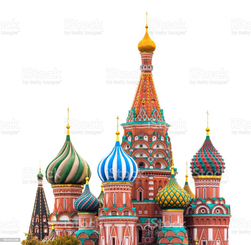Fragment view of Saint Basil's Cathedral stock photo