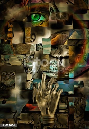 860245894 istock photo Fragmented Human Abstract 946876844