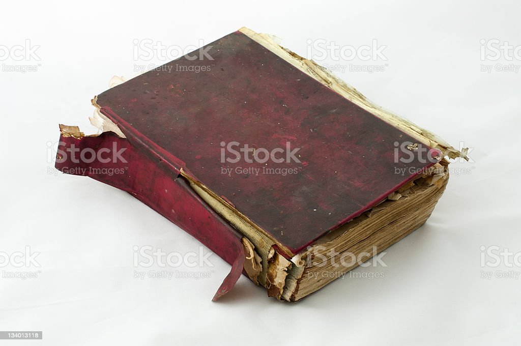 Fragmented old worn book royalty-free stock photo