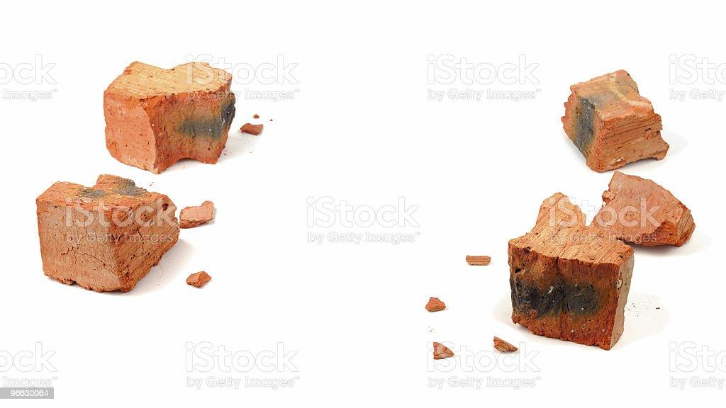 Fragments Of Broken Brick stock photo