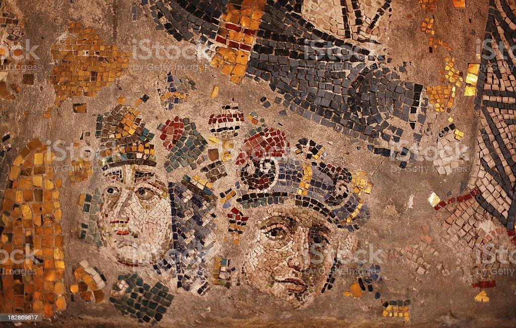 fragments of byzantine style mosaic stock photo