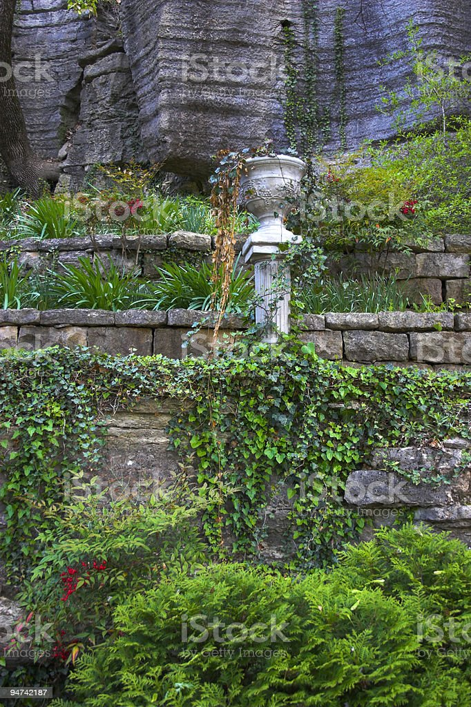 Fragments of old garden royalty-free stock photo