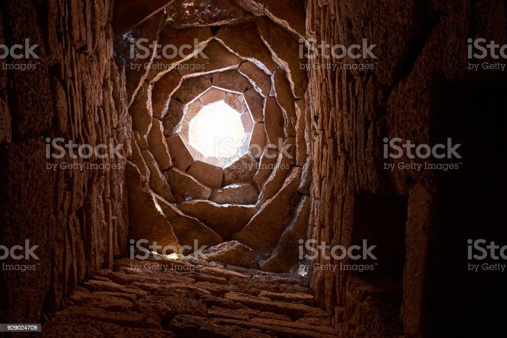 Fragments of the underground mosque. stock photo