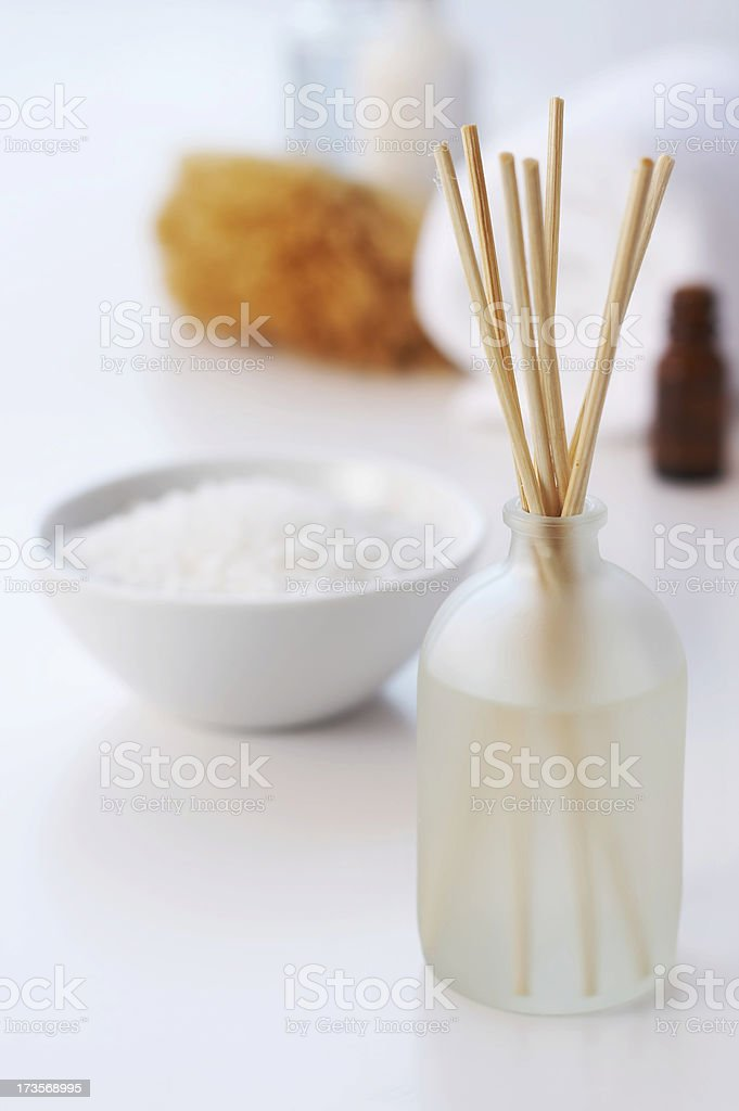 fragrance diffuser in spa setting stock photo