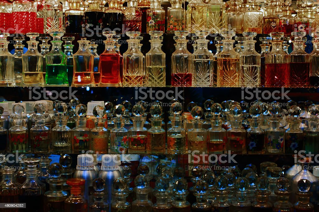 Fragrance in a bottle stock photo