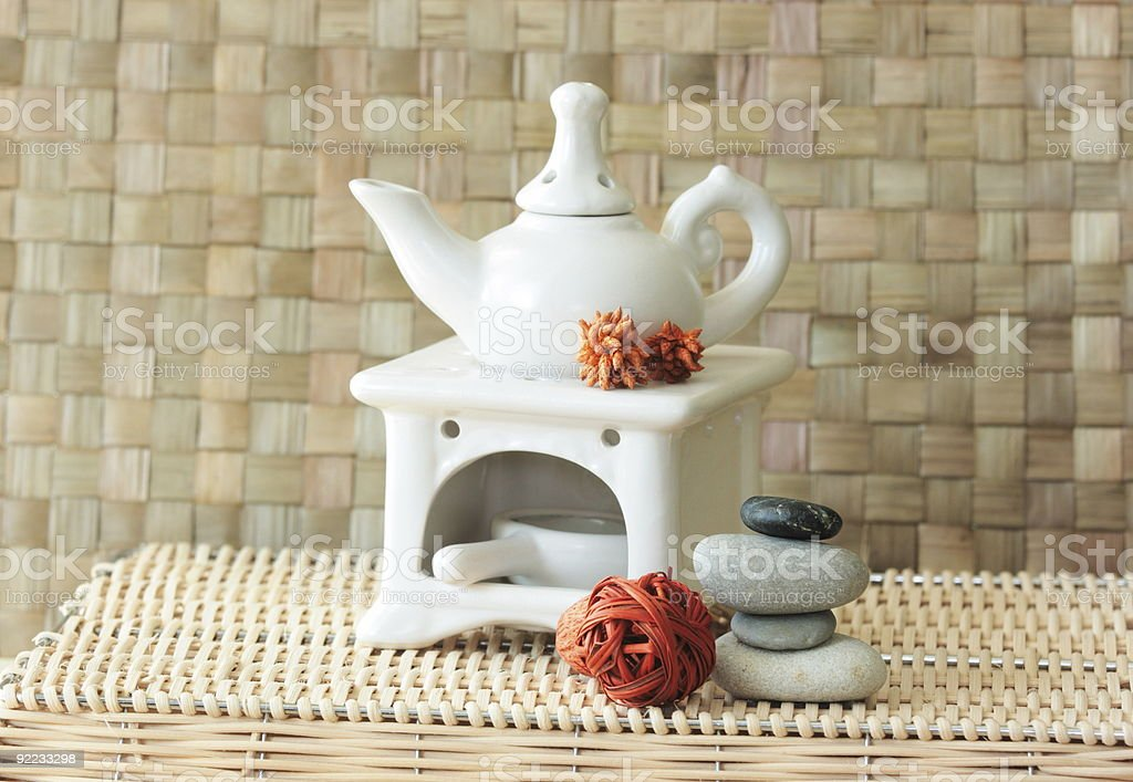 Fragrance lamp for meditation royalty-free stock photo
