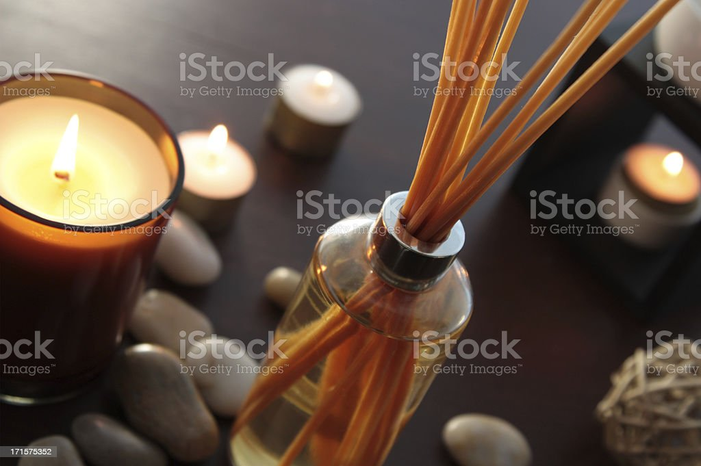 fragrance reed diffuser stock photo