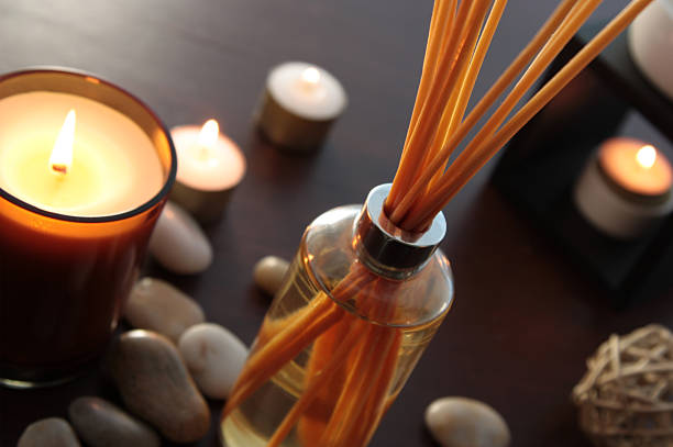 fragrance reed diffuser - scented stock photos and pictures