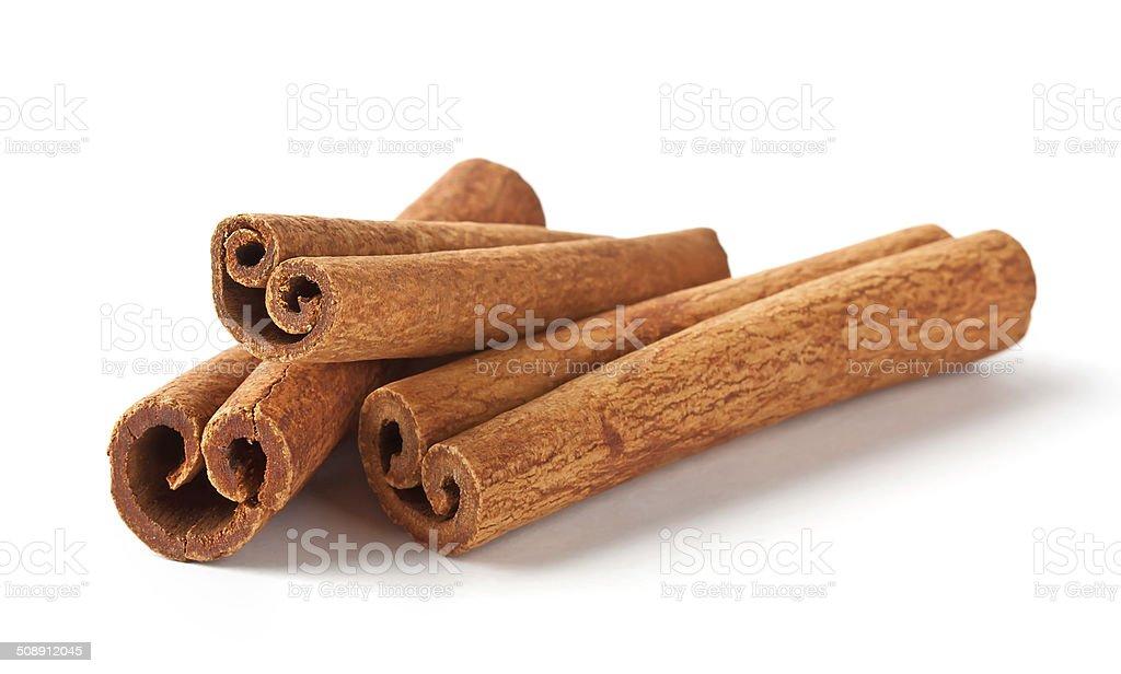 Fragrant cinnamon sticks stock photo