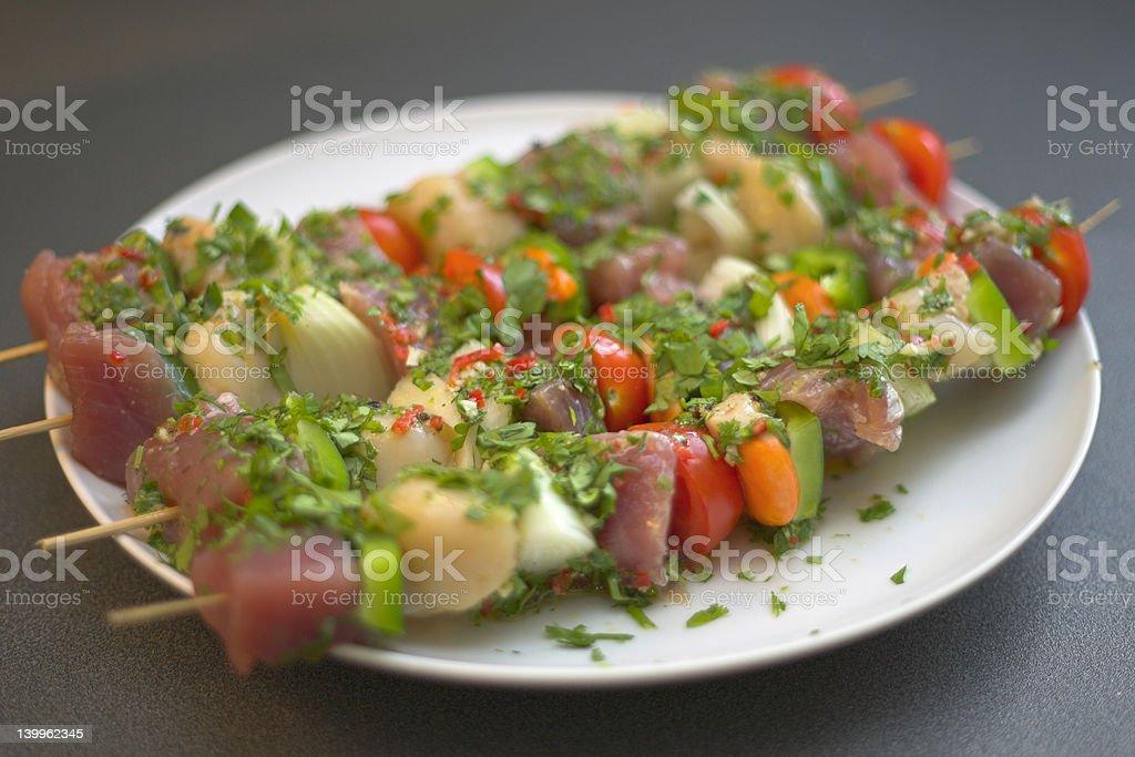 Aromático peixe Kebabs#2 - foto de acervo