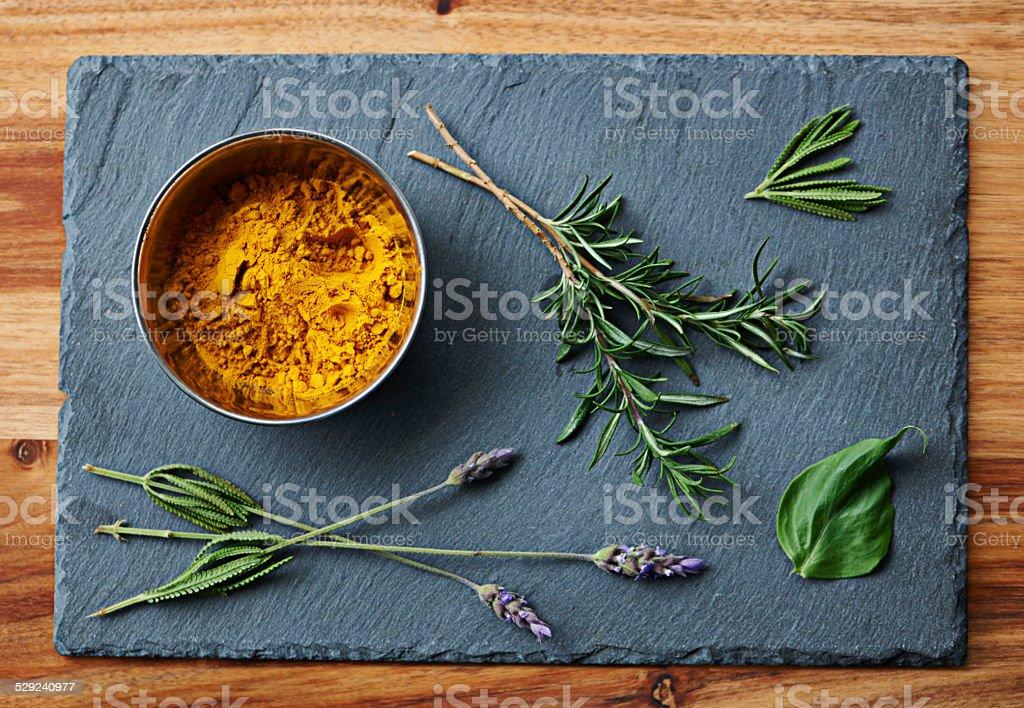 Fragrant ingredients stock photo