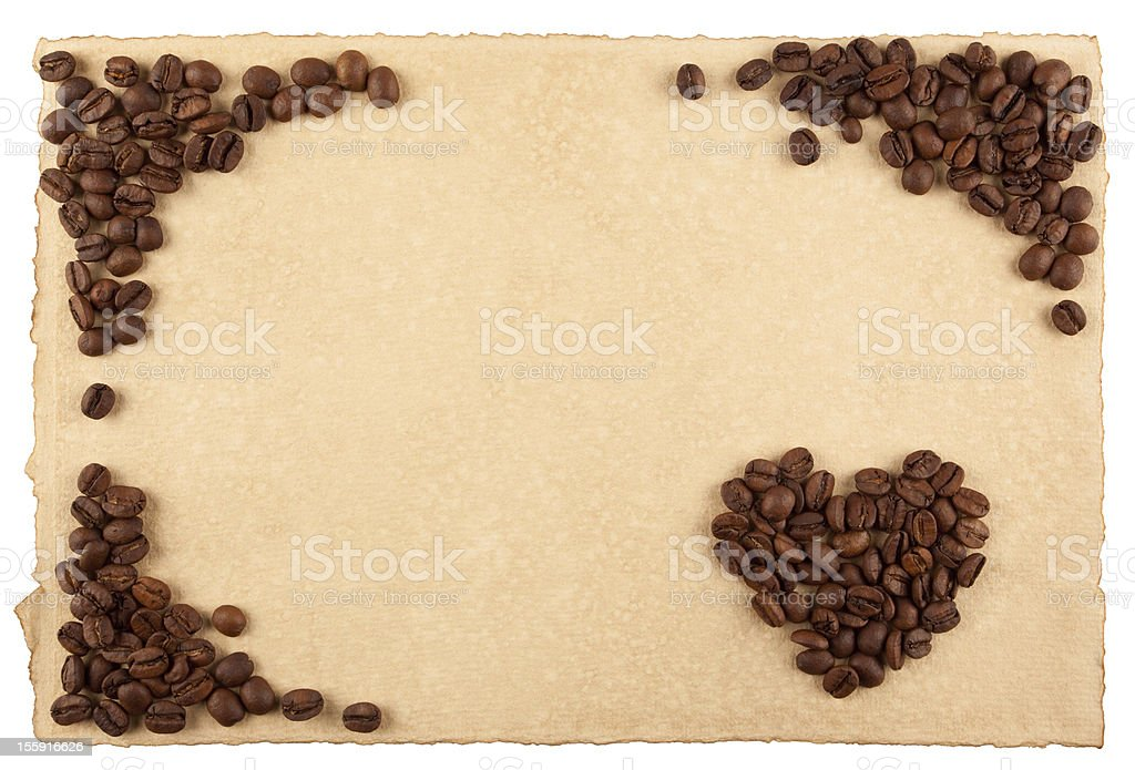 Frame and a heart royalty-free stock photo