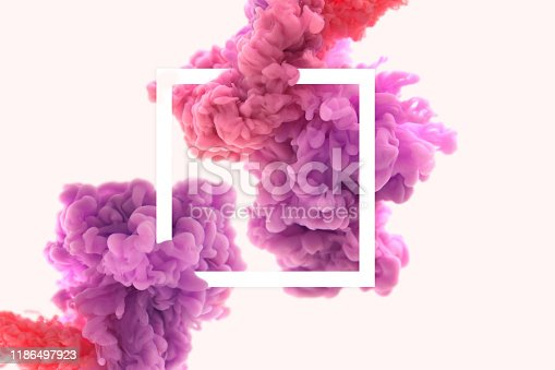 istock Frame and abstract ink in water 1186497923