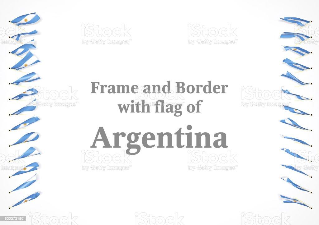 Fotografía de Marco Y Frontera Con Bandera Argentina Ilustración 3d ...