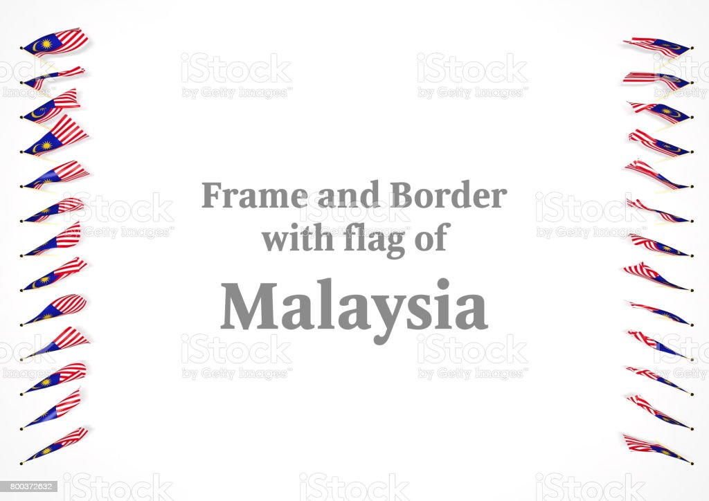 Frame And Border With Flag Of Malaysia 3d Illustration Stock Photo ...