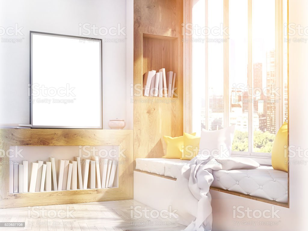 Frame and window seat toning stock photo