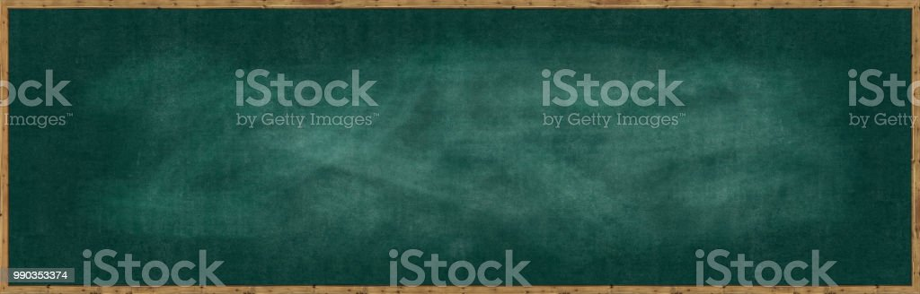 Frame Blank chalk rubbed out on blackboard for text or drawing or...