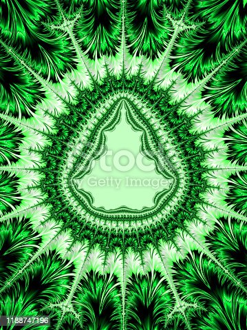 Frame Christmas Tree Abstract Background Holiday in Tropical Climate Christmas in July Sale Concept Spruce Pine Fir Tree Fern Palm Leaves Cactus Floral Fractal Fine Art