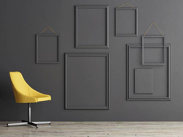 composition d'image sur un mur gris - Photo