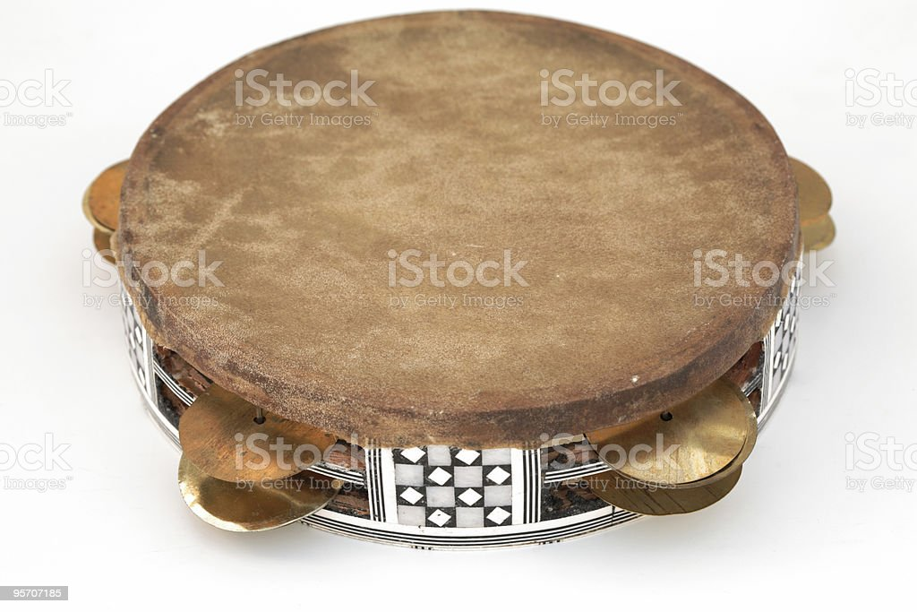 Frame drum, isolated stock photo