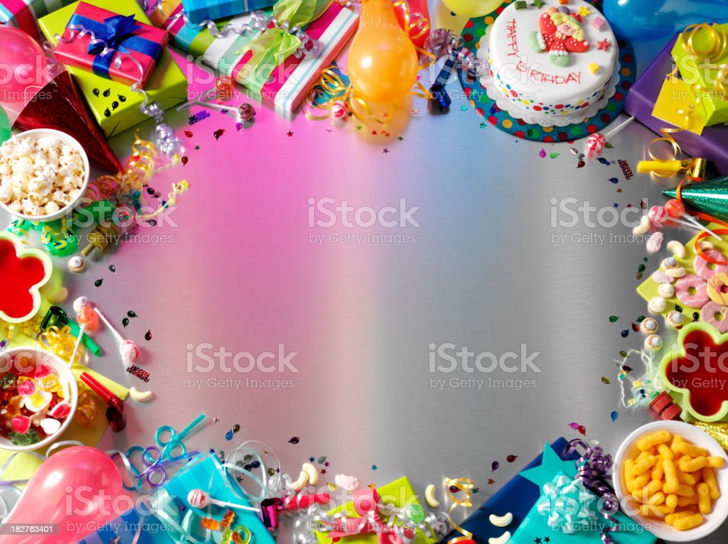 Frame For a Children's Birthday Party royalty-free stock photo