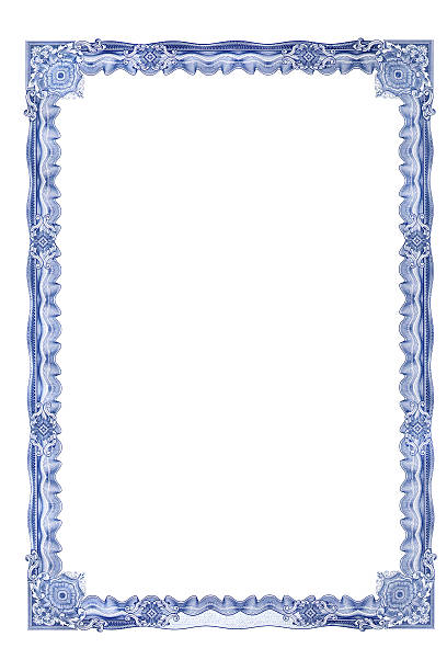 frame for certificate - guilloche stock photos and pictures