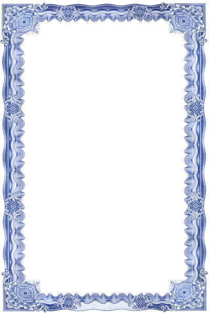 frame for certificate1 - guilloche stock photos and pictures