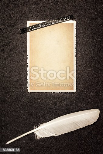882302538 istock photo Frame for Photo in Old Album 695509136