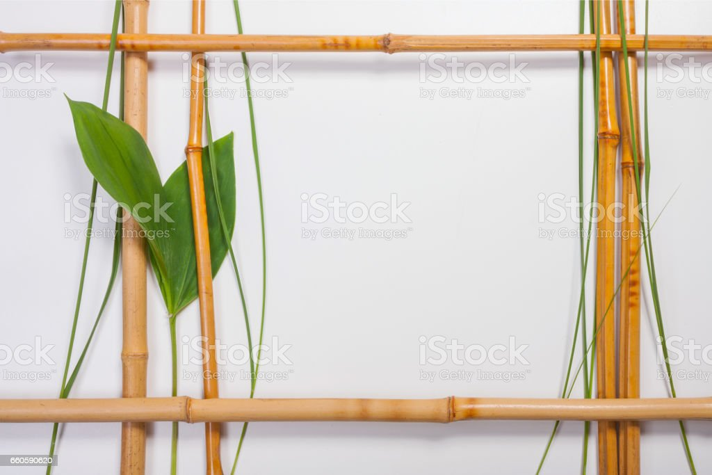 Frame for pictures from bamboo royalty-free stock photo