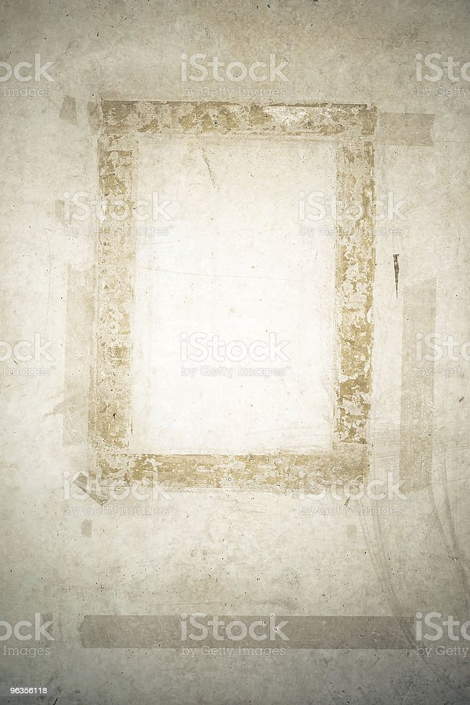 Frame from glue remains royalty-free stock photo