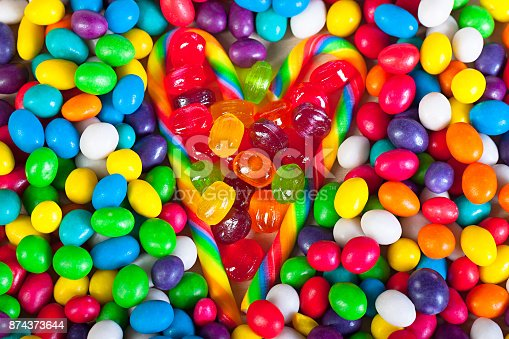 istock frame from heart from colorful sweets of sugar candies 874373644