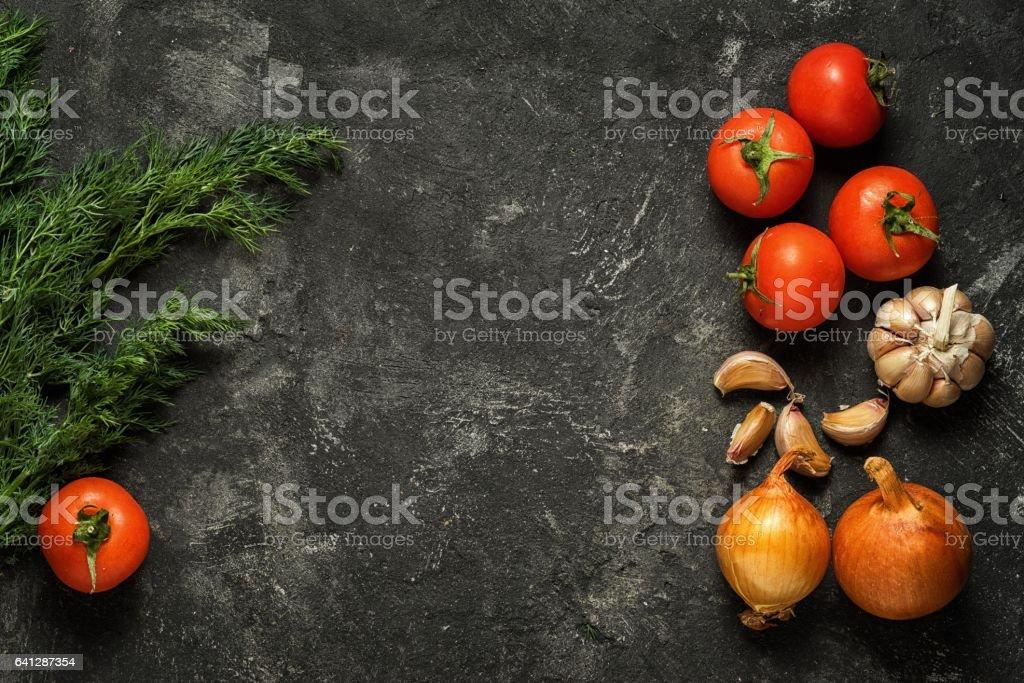 Rahmen aus Gemüse – Foto
