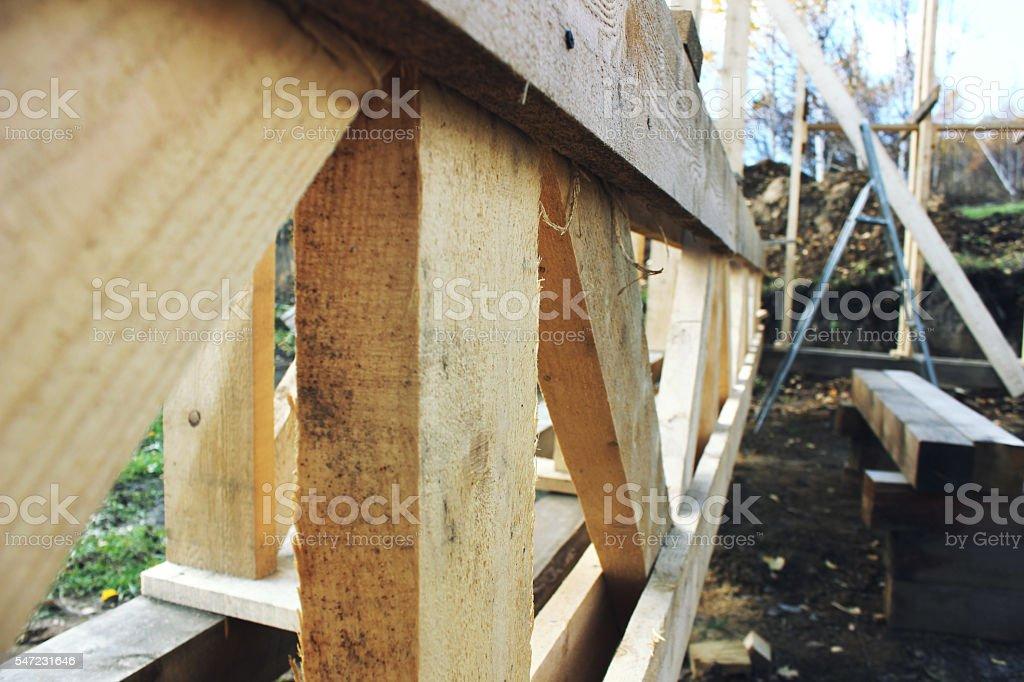 frame house wood - foto de stock