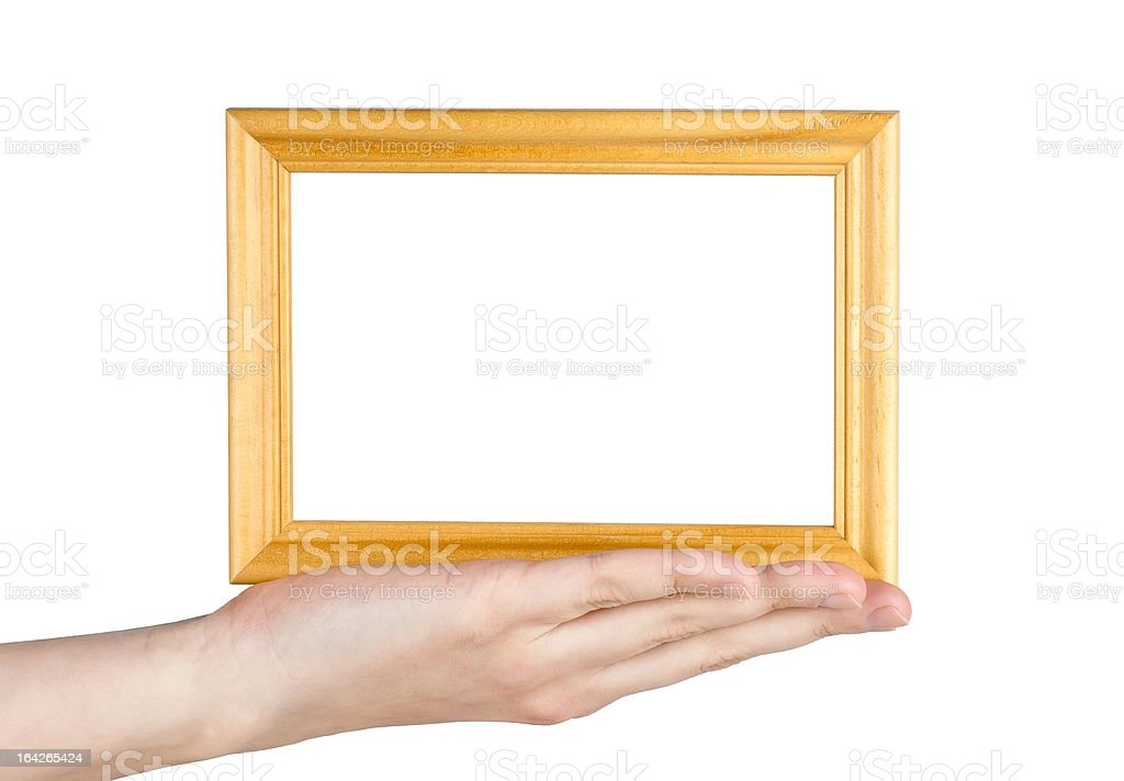 Frame in hand royalty-free stock photo