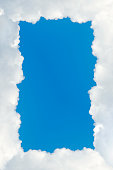 Frame made of clouds (with copyspace)