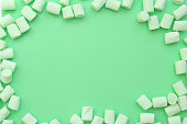 istock frame made of marshmallows . the concept of childhood. 843580674