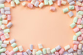 istock frame made of marshmallows . the concept of childhood 843580894
