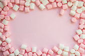 istock frame made of marshmallows . the concept of childhood 843581146