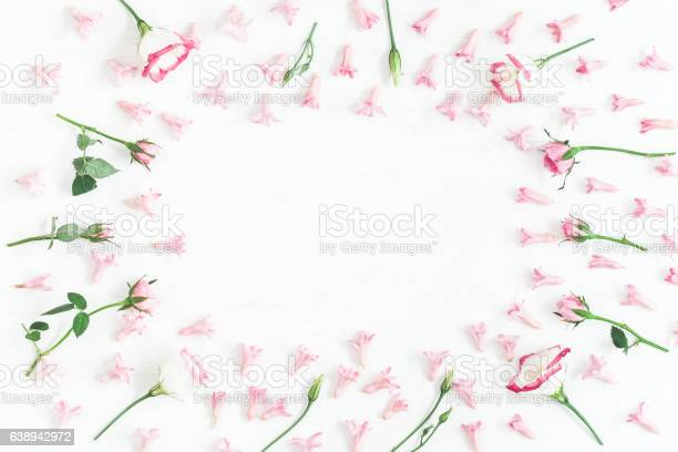 Frame made of pink flowers valentines day flat lay picture id638942972?b=1&k=6&m=638942972&s=612x612&h=67zg3rkqbu3rn6s8sreioygso wpixyao3mdbsht8eo=